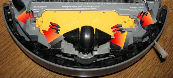 Roomba Robot Aspirapolvere Per Pavimenti Neri Sensore Scogliera